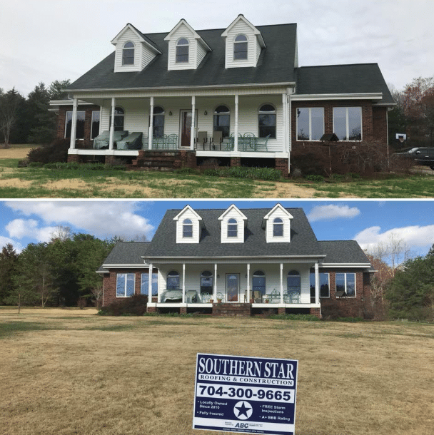 Concord roof install before and after