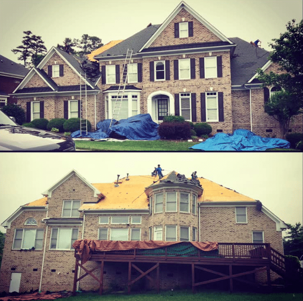 full roof replacement in Concord NC